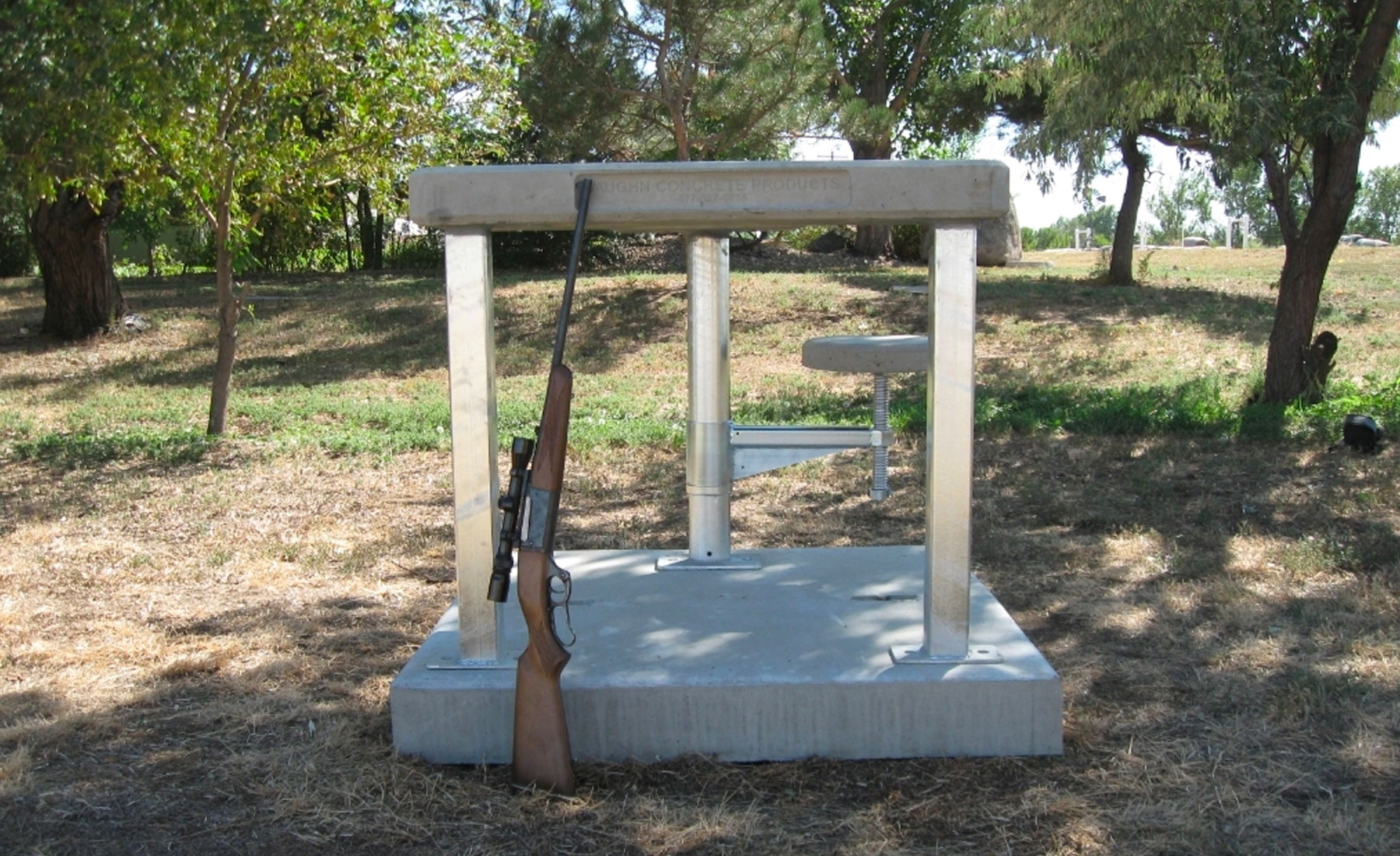 Precast Concrete Shooting Bench
